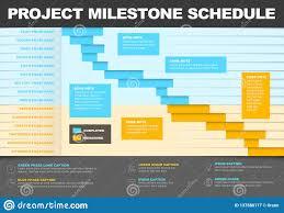 Project Timeline Gantt Graph Template Stock Vector