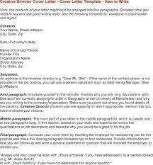 Cover Letter Creative Director Position Adriangatton Com