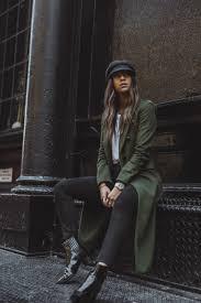 winter coat veronica beard green winter style givenchy bag new york streetstyle ping blog blogger fashion