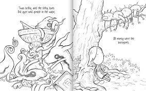 jabberwocky a nonsense coloring book bonus print set