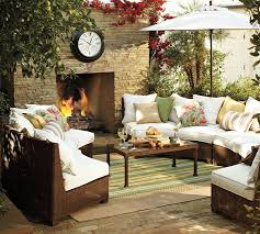 designing outdoor living room w palmetto sectional by pottery barn with wicker furniture designs 12