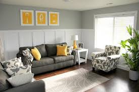 White board and batten with gray walls, gray furniture, yellow accent  pillows and custom artwork from my hubby.   House   Pinterest   Gray  furniture, ...
