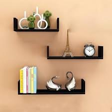 Floating Shelves Mitre 10 Impressive Floating U Shelves Shop Floating U Laminated Black Shelves Set Of 32
