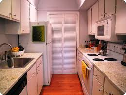 Small Galley Kitchen With Island Floor Plans Window Treatments