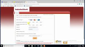 how to pay indusind bank credit card bill