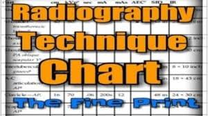 Fixed Kvp Technique Chart X Ray Techniques Chart Template And Radiography Technique