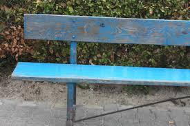 1 industrial vintage long garden bench