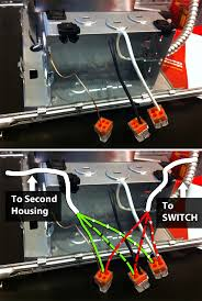electrical how to chain two recessed lights together? home Wiring Diagram For Recessed Lighting In Series enter image description here wiring recessed lights in series diagram
