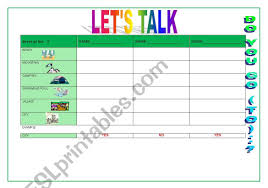 English Speaking Chart English Worksheets Holidays Speaking In Groups Chart