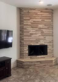 fireplace stone tile corner