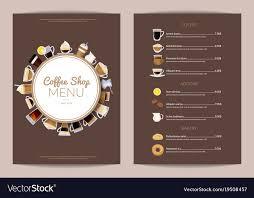 Cafe Menu Template Coffee Shop Vertical Menu Template