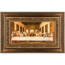 last supper framed wall decor on brown framed wall art with last supper framed wall decor hobby lobby 214296
