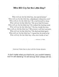 who will cry for the little boy poem from antwone fisher  poem from antwone fisher