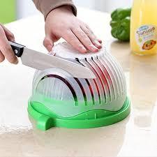 2019 <b>Keythemelife</b> Kitchen Tools Salad Cutter Bowl Easy Salad ...