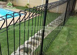 Welded wire fence Black Vinyl Security Steel Fence High Strength Arc Roll Top Fencing Galvanized Welded Wire Fence Panels