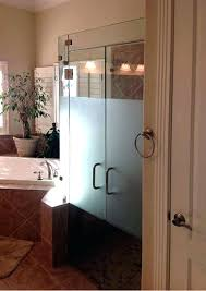 frosted vs clear glass shower doors custom etched frosted glass shower doors frosted or clear glass