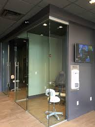 image of pureglass sliding door hardware in office