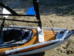 kayak sail on a inflateable kayak