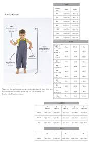 Size Guide For Babies Kids Kids Baby Clothes Asia From