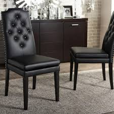 Baxton Studio Lavin Beige Faux Leather Upholstered Dining Chairs - Faux leather dining room chairs