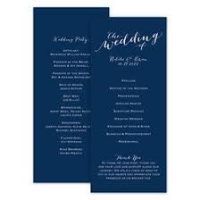Fun Wedding Programs Keep It Simple Wedding Program