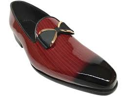 details about moretti men s fashion slip on red patent leather dress shoes m31720