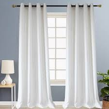 White Curtains Soft Small Texture Block Drapes for Bedroom/Living ...