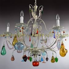 flowers and fruits murano glass chandeliers venice arte small murano glass chandelier