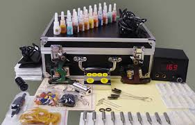 Professional body art ROTARY <b>tattoo gun</b> machine needles inks ...