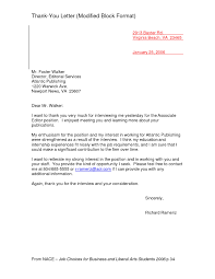 Modified Block Format Letter Cover Letter Example