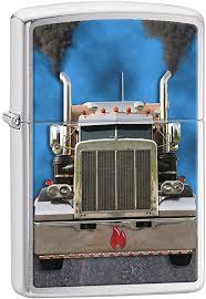 Zippo Lighter: Diesel Truck - Brushed Chrome 77838: Clothing - Amazon.com