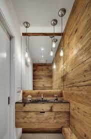 small narrow half bathroom ideas. Bathroom Small Narrow Half Ideas With Pendant Lamp And Brown Wall For R