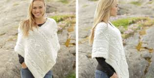 Free Knitted Poncho Patterns Cool Snow Beads Knitted Poncho [FREE Knitting Pattern]