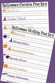 Halloween Cursive + Handwriting Practice Worksheets - A Mom's Take