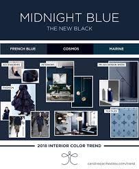 interior color trends 2018 indigo blue midnight blue navy