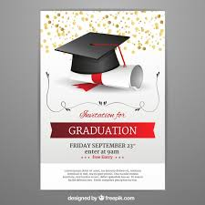 graduation announcements free downloads graduation invitation template in realistic style vector free download