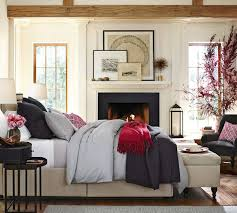 Red Bedroom Bench Lorraine Tufted Storage Bench Pottery Barn Au