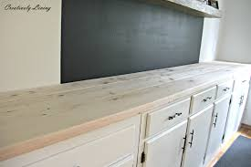 built in coffee bar makeover diy wood counter plain wood by creatively living built coffee bar makeover