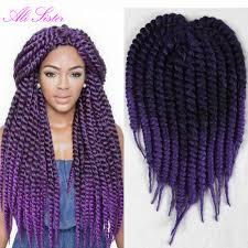 Braid Length Chart 1b Purple Color Havana Mambo Twist Ombre Braiding Hair