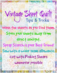 Vintage Sheet Quilts - Tips and Tricks for Making Your Own! - Busy ... & Tips and Tricks for Making Your Own Vintage Sheet Quilt from  BusyBeingJennifer.com Adamdwight.com