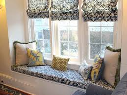 window seat furniture. Window Seat To Beautify Furniture Arrangement In Small Living Rooms With Patterned Couch And Pillows As Well Curtains