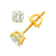 sparkling diamond studs