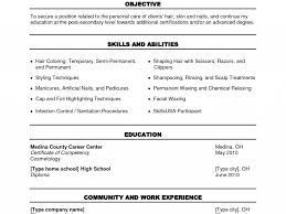 Download Resume For Cosmetology