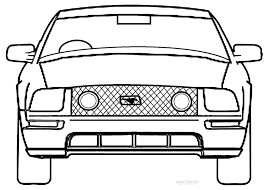 coloring pages of mustang