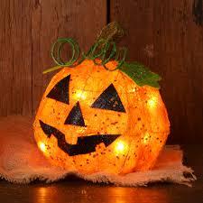 lighted sisal pumpkin lighted decoration