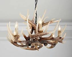 6 lights resin deer horn antler chandeliers