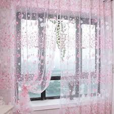 Net Curtains For Living Room Lovely Flower Pattern Voile Net Curtains For Door Window Room