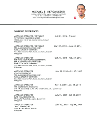 Sample Resume Philippines Topshoppingnetwork Com