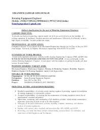 Mechanical Engineer Resume Mechanical Engineer Resume Summary Sample