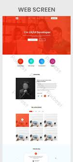 Ui Design Templates Psd Personal Portfolio Web Screen Ui Psd Free Download Pikbest